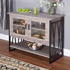 Amazoncom Seneca GlassMetalWood Laminate Small Dining Room - Dining room buffet cabinet