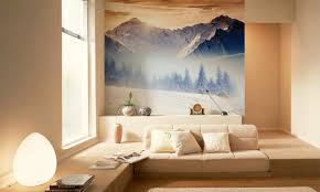 Wall Murals For Living Room Winter Wall Murals Bring The Magic Of The Season Indoors