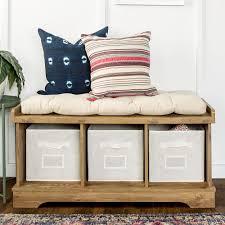 walker edison furniture company driftwood storage bench hd42stcag