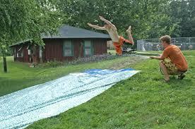 Backyard Slip N Slide Activities At Wesley Woods Summer Camp Indianola Ia