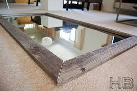 Picture Frames Made From Old Barn Wood Diy Reclaimed Wood Floor Mirror Made From A Giant Bathroom Mirror