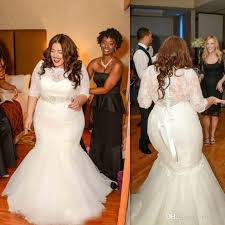 plus size wedding gowns 2017 mermaid plus size wedding dresses with sleeve tulle and lace