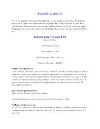 Resume Samples For Teenage Jobs by Guard Resume Resume Cv Cover Letter