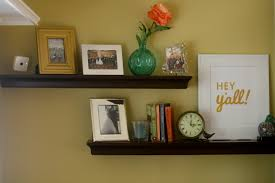 floating shelves living room decor reading nook home accents
