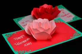 day card flower pop up card template creative pop up cards