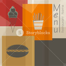 restaurant menu card design royalty free stock image storyblocks