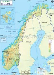 Physiographic Map Of The United States by Map Of Norway