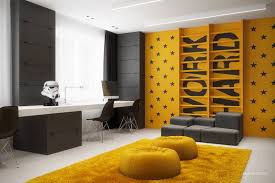 interior for homes interior yellow bedroom two black and gray homes with chic