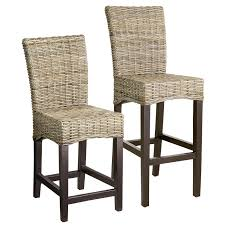 dining room black alluring wooden ethnic seagrass counter stools