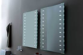 rectangle frameless mirror with led bathroom