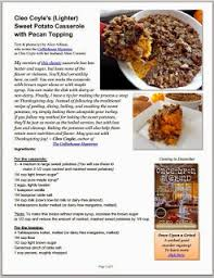 cleo coyle recipes thanksgiving side dish