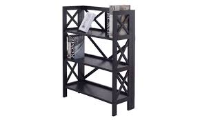Iron Folding Bookcase 3 Tier Stacking Folding Bookshelf Book Case Storage Home Office
