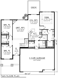 ranch floor plans with 3 car garage ranch style house plan 3 beds 2 00 baths 1934 sq ft plan 70 1244
