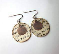 earrings ideas just 12 handmade book page earrings book earrings literary