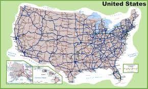 map of america with cities usa road map
