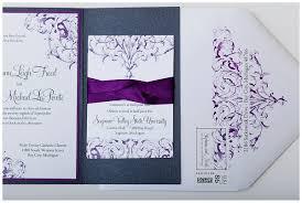 purple wedding invitations purple pewter and white custom wedding invitations