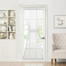 Amazon Door Curtains Rod Pocket Door Sheer Curtains Amazon Com