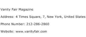 Vanity Fair Phone Number Vanity Fair Magazine Address Contact Number Of Vanity Fair Magazine