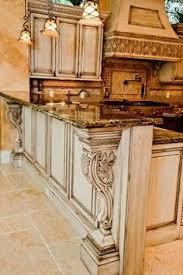 Antique Kitchen Design Repainted Antique White Kitchen Cabinets Kitchens