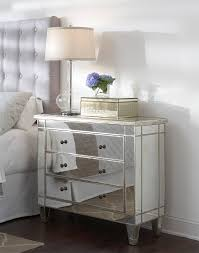 Hayworth Mirrored Chest Silver by Renowned Mirrored Nightstand Collections Home Furniture Segomego