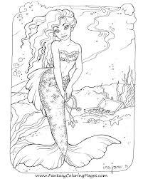 38 mermaid coloring pages images mermaid