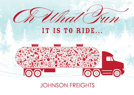 Christmas Cards Business Transport Time Trucking Card Business Christmas Cards