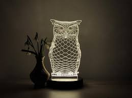 Owl Table Lamp 3d Led Light Owl Table Lamp Mom Gifts Bedroom Decor Desk Lamp
