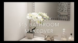 home diy 15 bathroom vanity makeover youtube