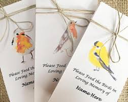 bird seed favors funeral favors memorial program funeral thank you
