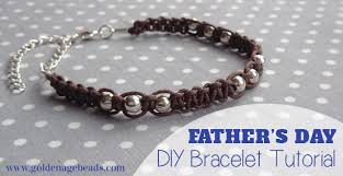 leather bracelet with silver beads images Men 39 s leather cord macram bracelet father 39 s day golden age beads jpg