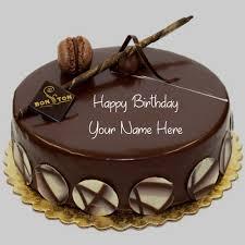 write name on chocolate birthday cakes