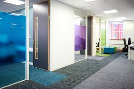 image result for office with glass partition frosted glass