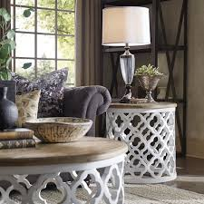Drum Accent Table Vince Reclaimed Wood Moroccan Trellis Drum Accent Table By Inspire