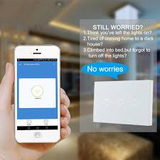 touch l on off plug in control 3 gang smart wifi touch panel power switch wall light control