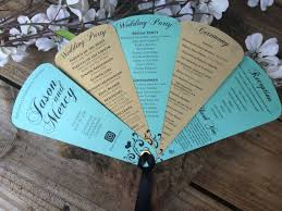 cardstock for wedding programs 44 best wedding fan programs images on fan programs