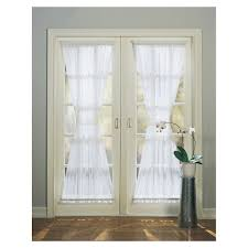 Single Window Curtain by Shop Style Selections High Twist Voile 72 In White Polyester Rod
