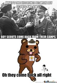 Boy Scout Memes - rmx difference between boy scouts and jews by knzz meme center