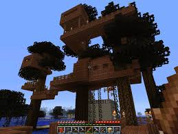 Cool Minecraft Tree Houses Tree house 8 floors creative