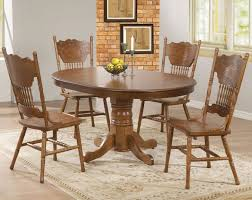 Light Oak Dining Table And Chairs Furniture Oak Pedestal Dining Table Set Small Oak Dining Chairs