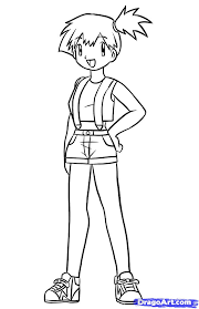 pokemon coloring pages misty pokemon dawn coloring pages and ash pages misty may colouring