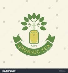 organic tea guarantees logo design tea stock vector 627609161