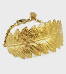 bracelet leaf images Brass leaf chain bracelet jewelry bracelets larissa loden jpg