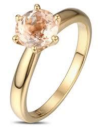 gold and morganite engagement rings 1 carat shape morganite solitaire engagement ring in yellow