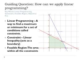 3 4 linear programming solve linear programming problems in two