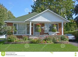 typical 70s bungalow house editorial stock image image 77993524