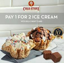 bca aeon pay 1 for 2 with bca credit card from cold stone aeon mall jakarta