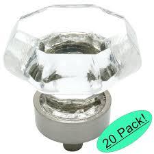 cosmas satin nickel cabinet hardware cosmas 5268sn c satin nickel cabinet hardware knob with clear glass