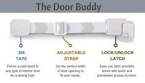 amazon com door buddy adjustable door strap u0026 latch easy way to