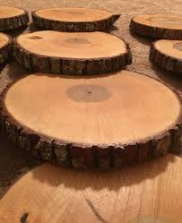 Wood Centerpieces Ready To Ship Treated Wood Slices Treated Wood Slabs Finished