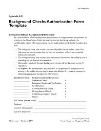 Credit Release Form Check Authorization Release Form What Is The Best Background